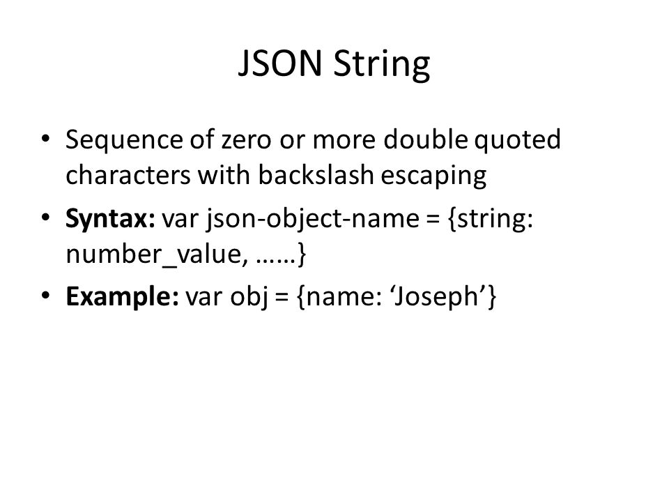 Json Copied From And From Prof Da Silvaw3schools Week 12