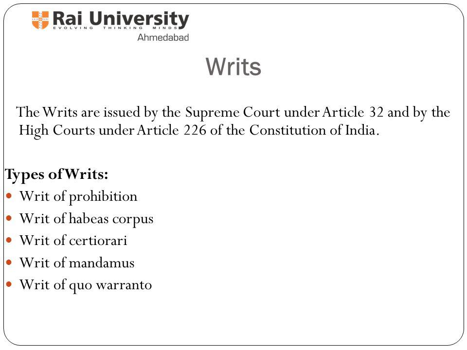 writ of certiorari in india