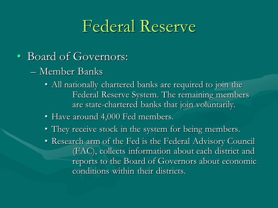 Federal Reserve Chapter 16 Section 1 The Federal Reserve