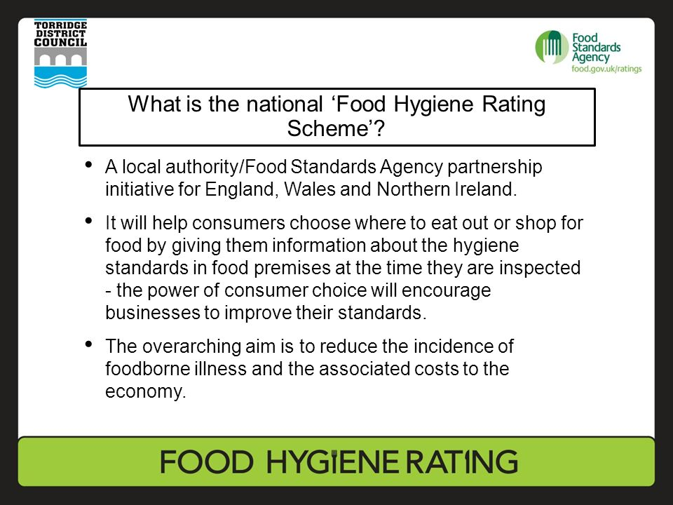 Moving To The National Food Hygiene Rating Scheme In