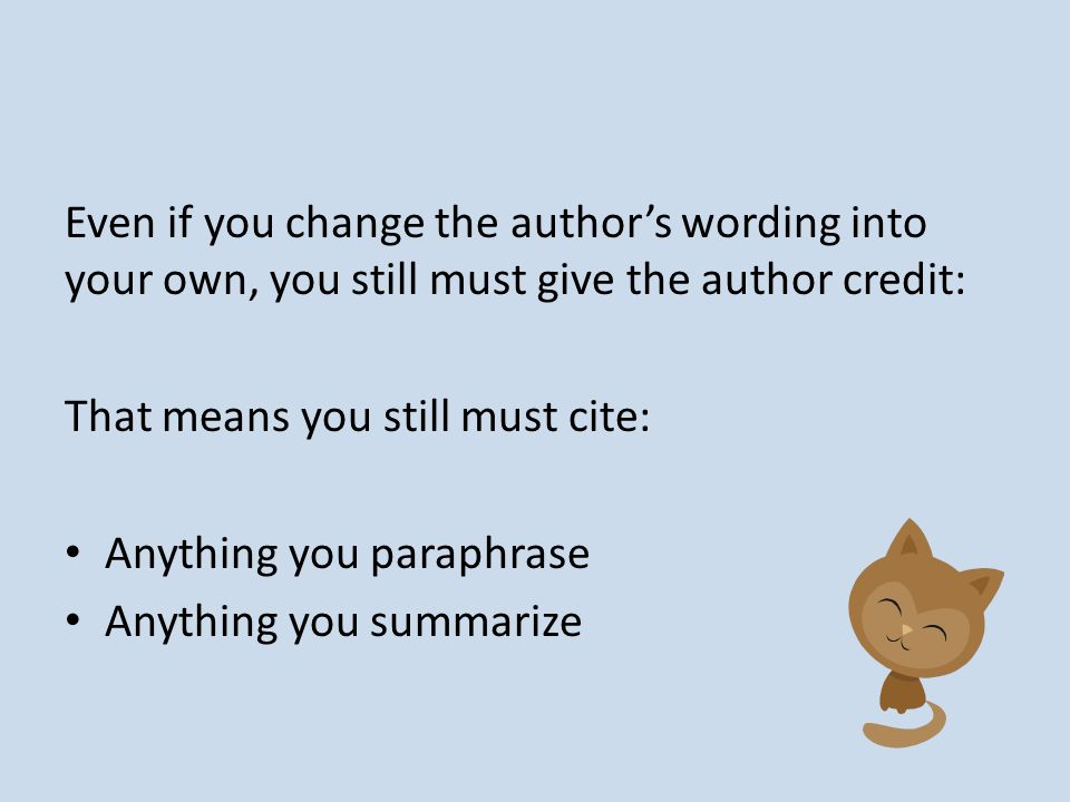 how to cite anything
