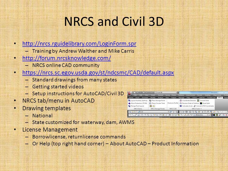 Introduction to AutoCAD and Civil 3D Justin Bonnema, PE USDA