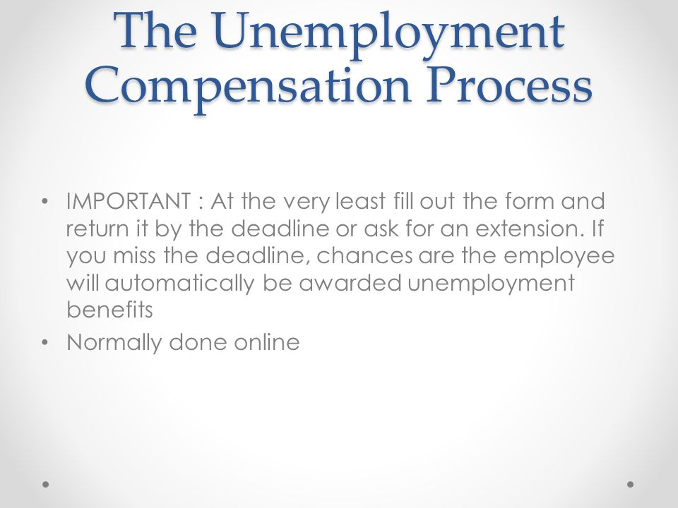 Defending Unemployment Claims Presented By: Shane Switzer, CFO ...