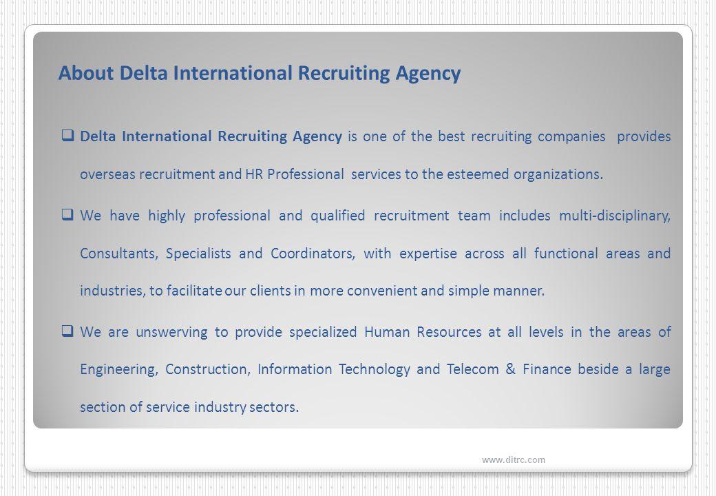 Delta International Recruiting Agency Islamabad Overseas