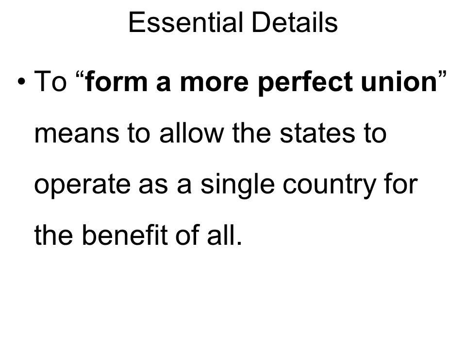 the preamble we the people of the united states, in order to form a