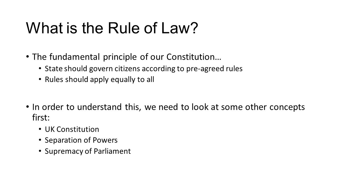 Understanding the rule of law in the context of its main branches 32