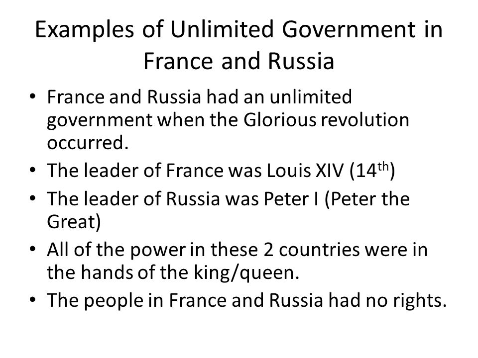 Unit 2 Limited Government And Unlimited Government In Europe In The