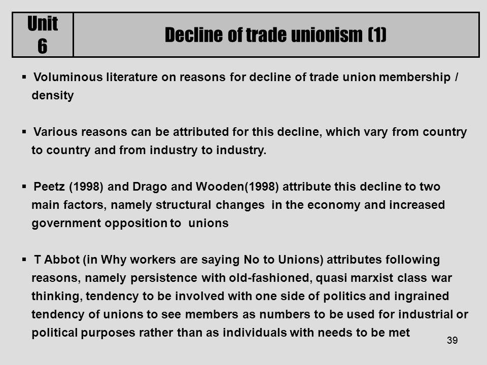 decline in union membership reasons