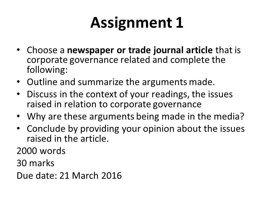 newspaper arguments