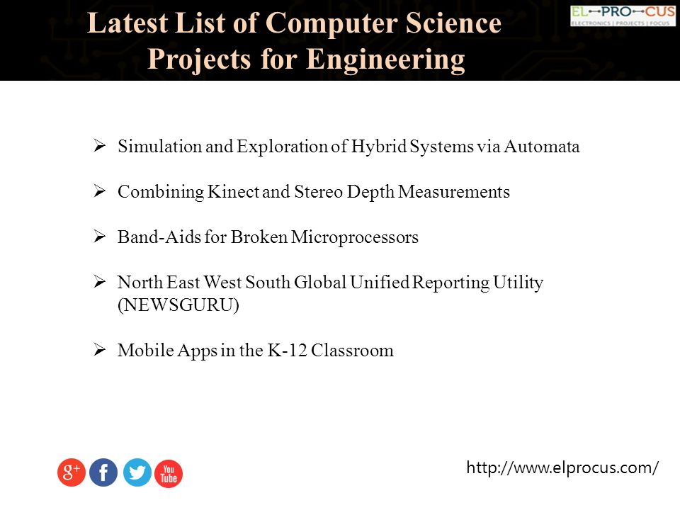 Latest List of Computer Science Projects for Engineering  - ppt download