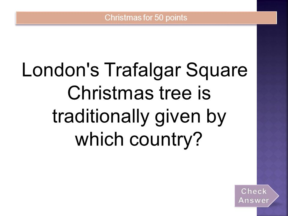 London S Trafalgar Square Christmas Tree Is Traditionally Given By Which Country