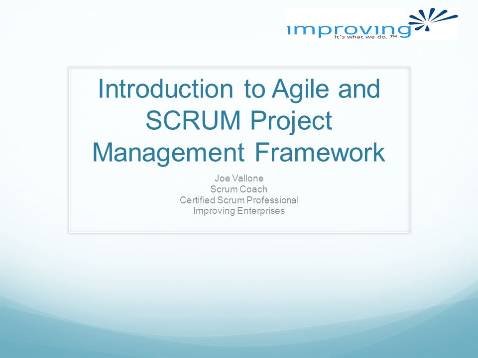 Introduction To Agile And Scrum Project Management Framework Joe