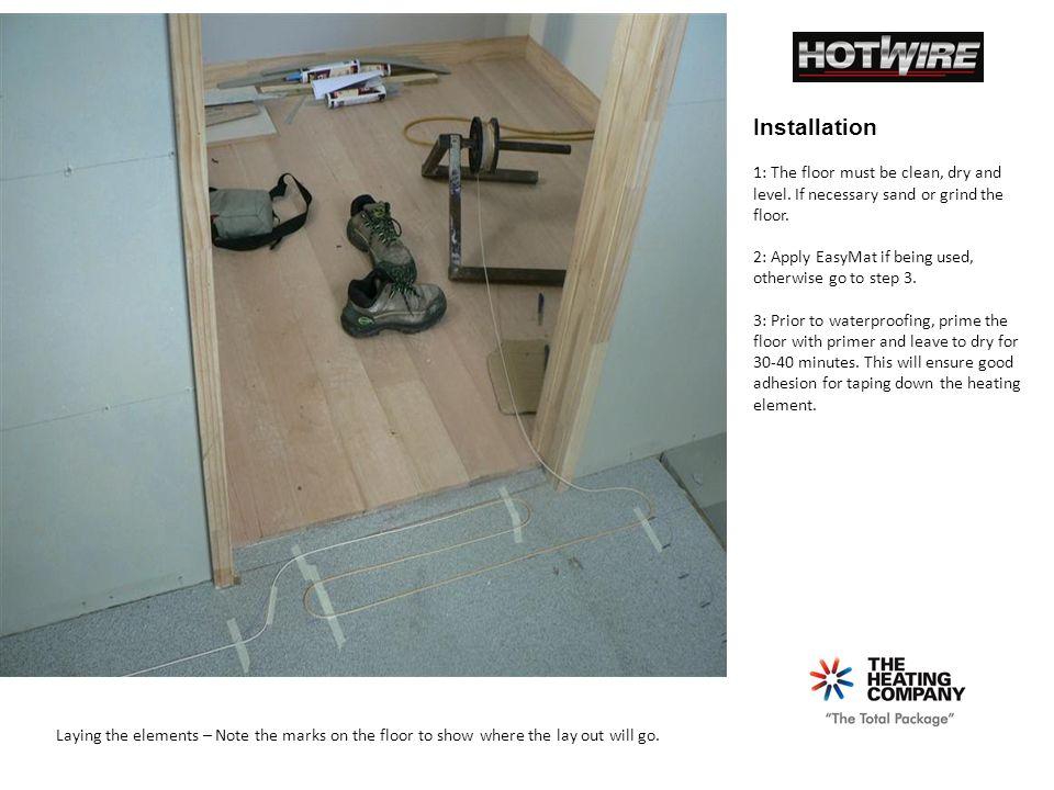 Basic Slide Show Under Tile Spooled Heating Installation Guide - Heating element for tile floor
