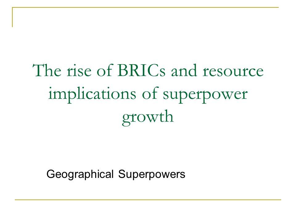 role of brics