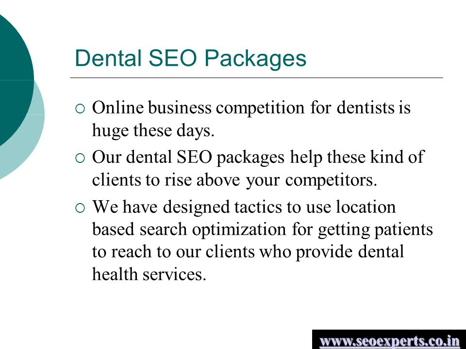 Dental SEO Packages  Online business competition for dentists is huge these days.