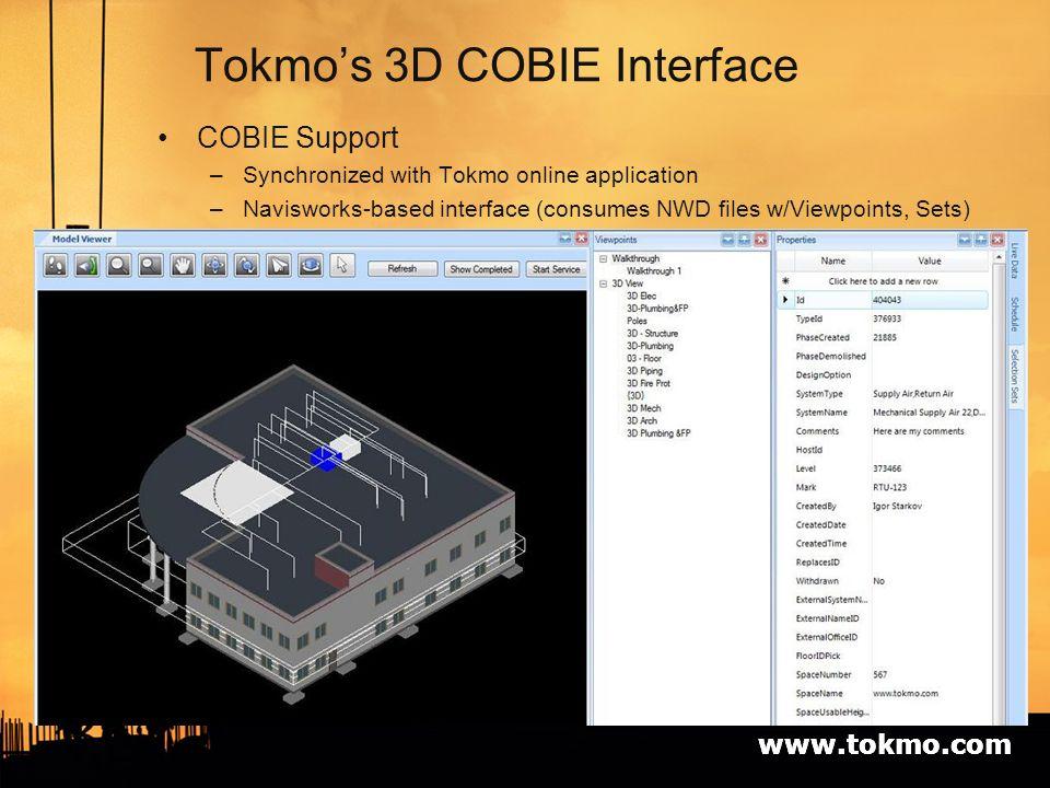 TOKMO and COBIE Igor Starkov President Tokmo Solutions, Inc