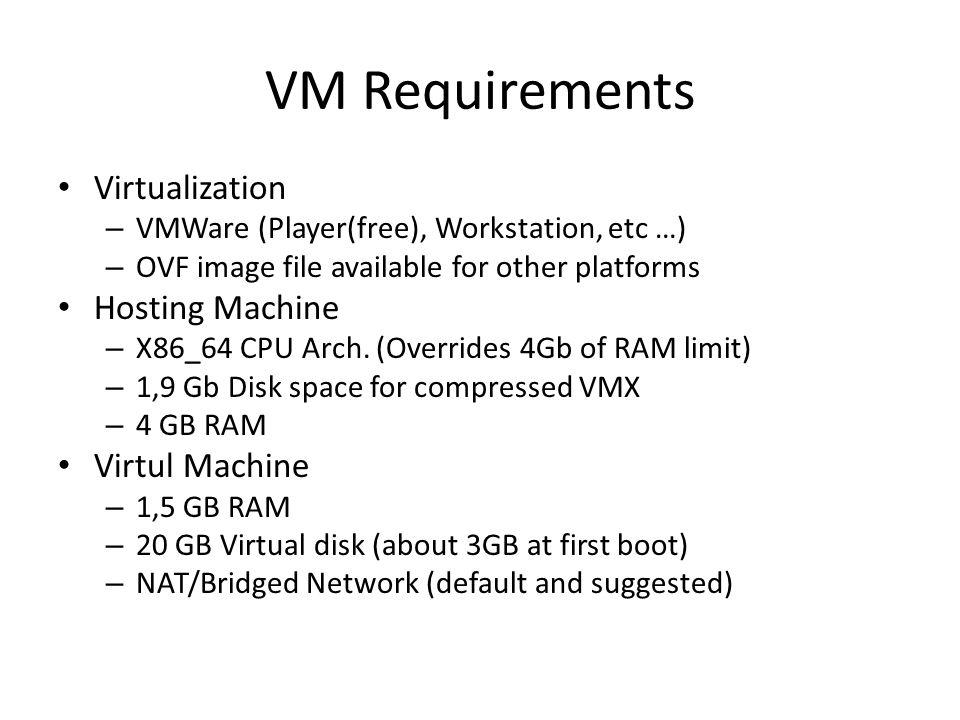GILDA VM Liferay V1 4  VM Requirements Virtualization