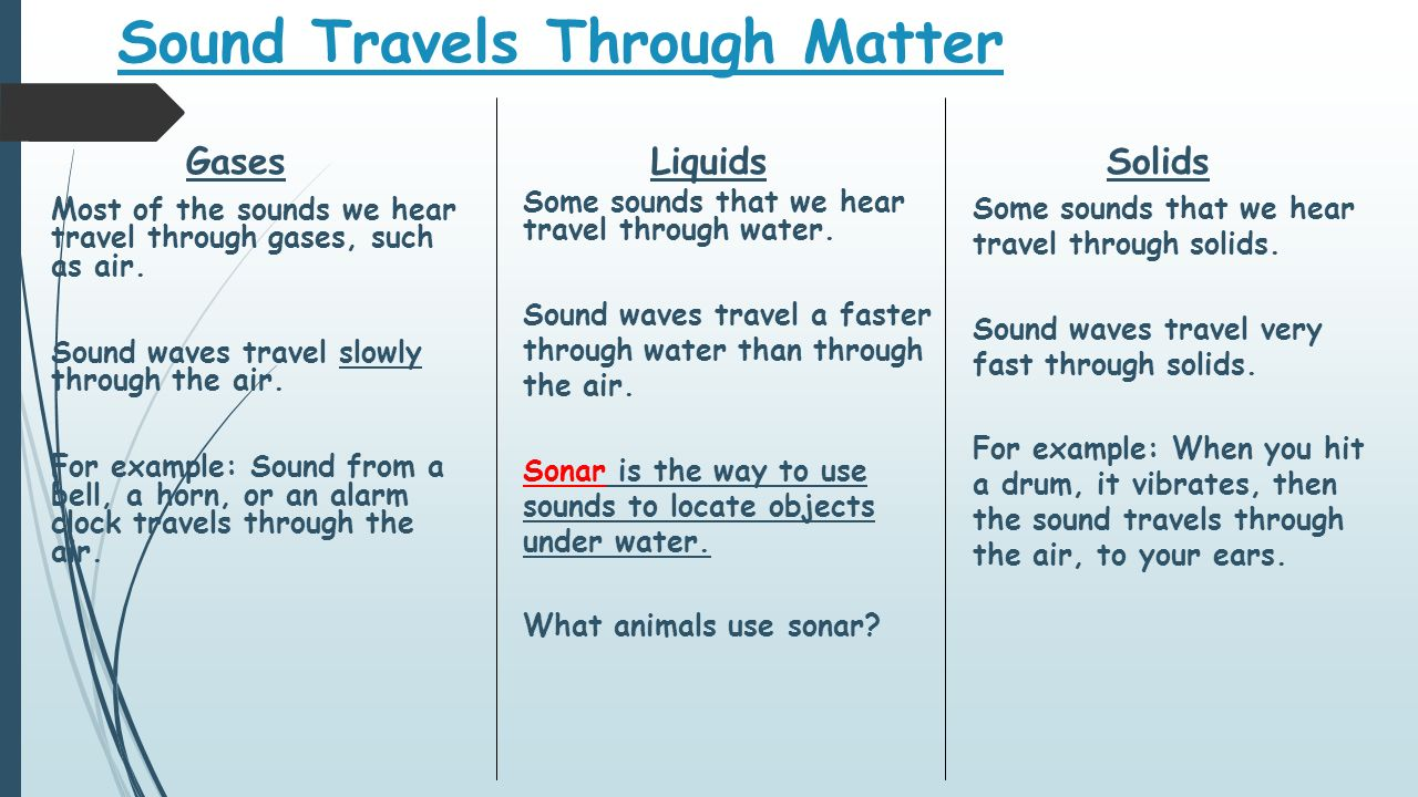 what travels faster than sound