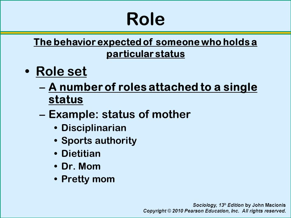 Status set sociology examples.