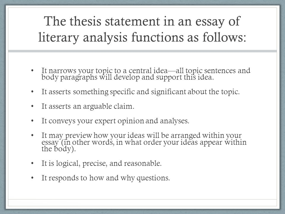 example thesis statements for poetry analysis