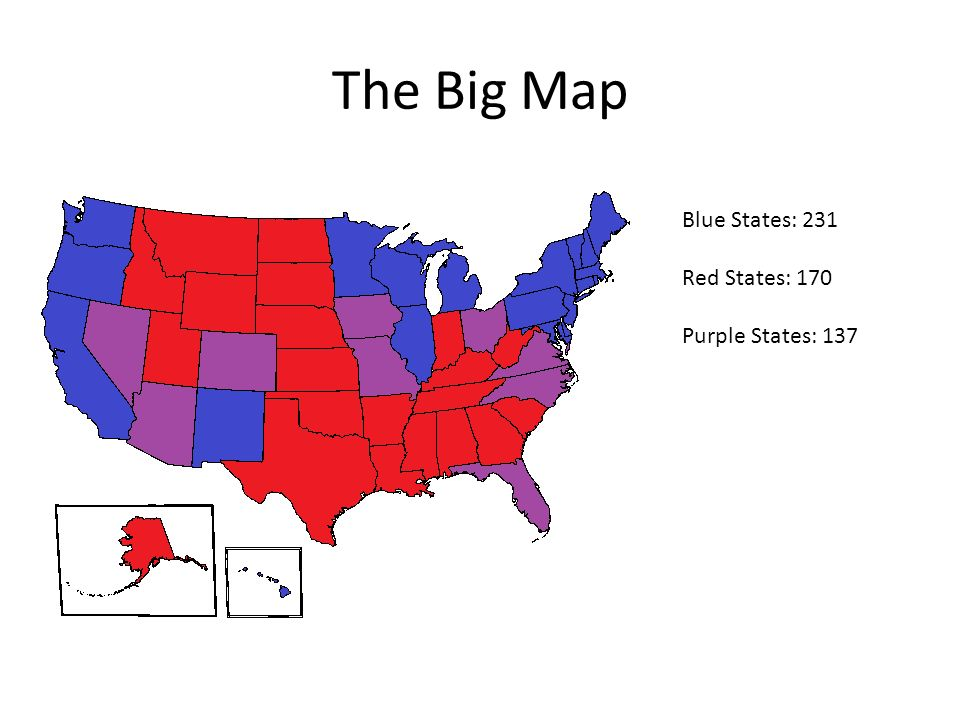 One State Two State Red State Blue State Red States And Blue