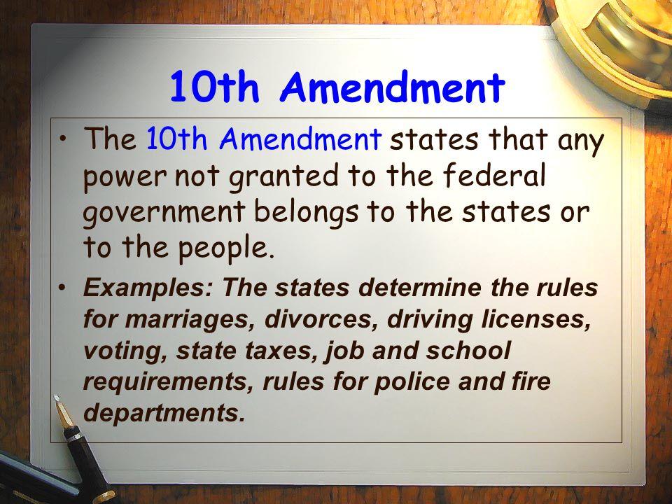 the 10th amendment explained