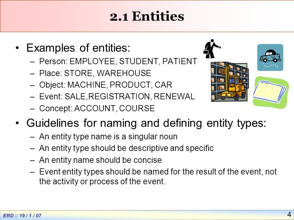 ERD :: 19 / 1 / Entity-Relationship (ER) Modeling  ER