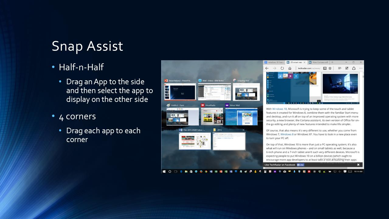 Windows 10 Features Preview RICK PENNY  The Start Menu The