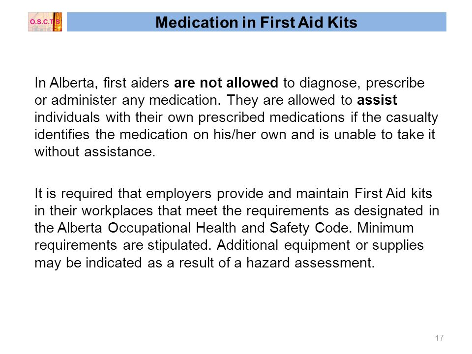 Alberta OH&S and CRC First Aid Created by Cezary Giluk