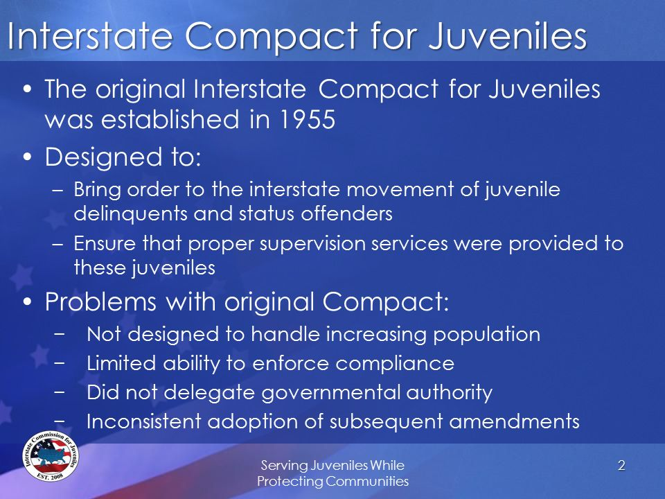 Interstate Compact For Juveniles Judicial Training Revised April Ppt