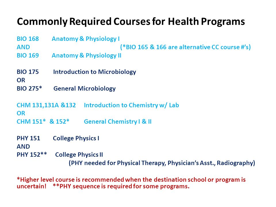 Advising for Pre-Allied Health Students Program/Career Options ...