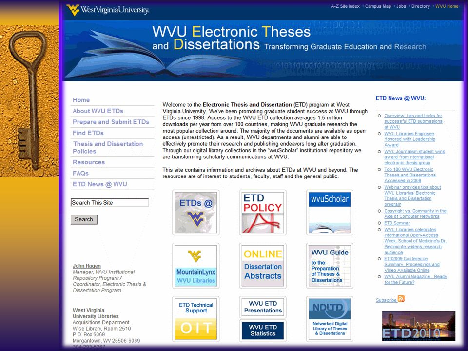 Electronic Theses & Dissertations (ETD)