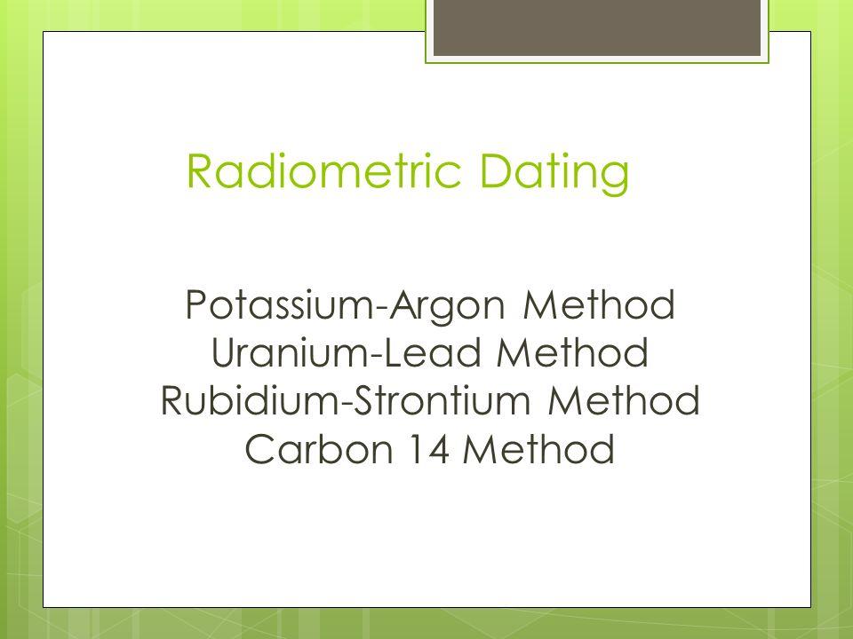 radiometric dating strontium