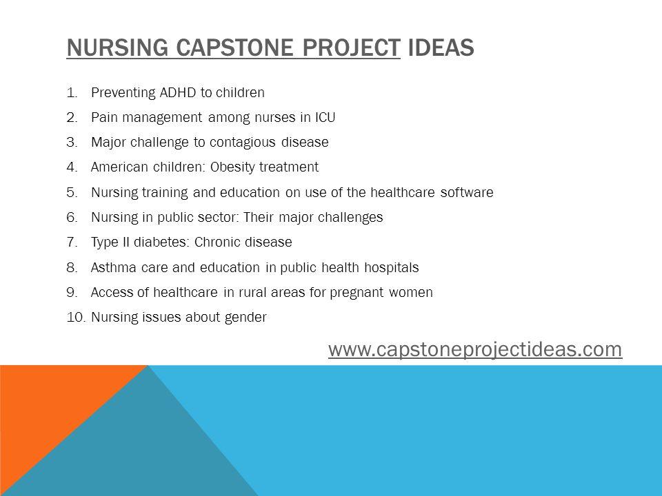 capstone topic ideas