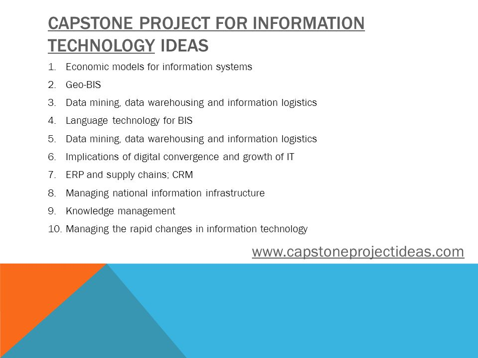 ideas for capstone project in information technology