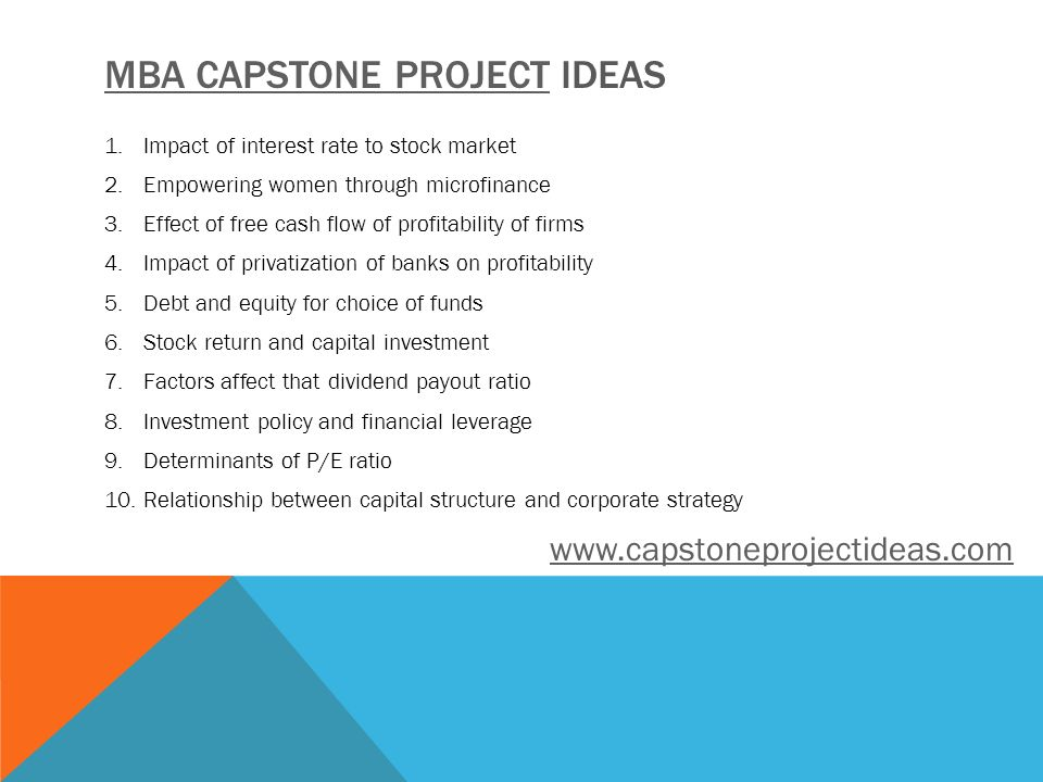 mba capstone project