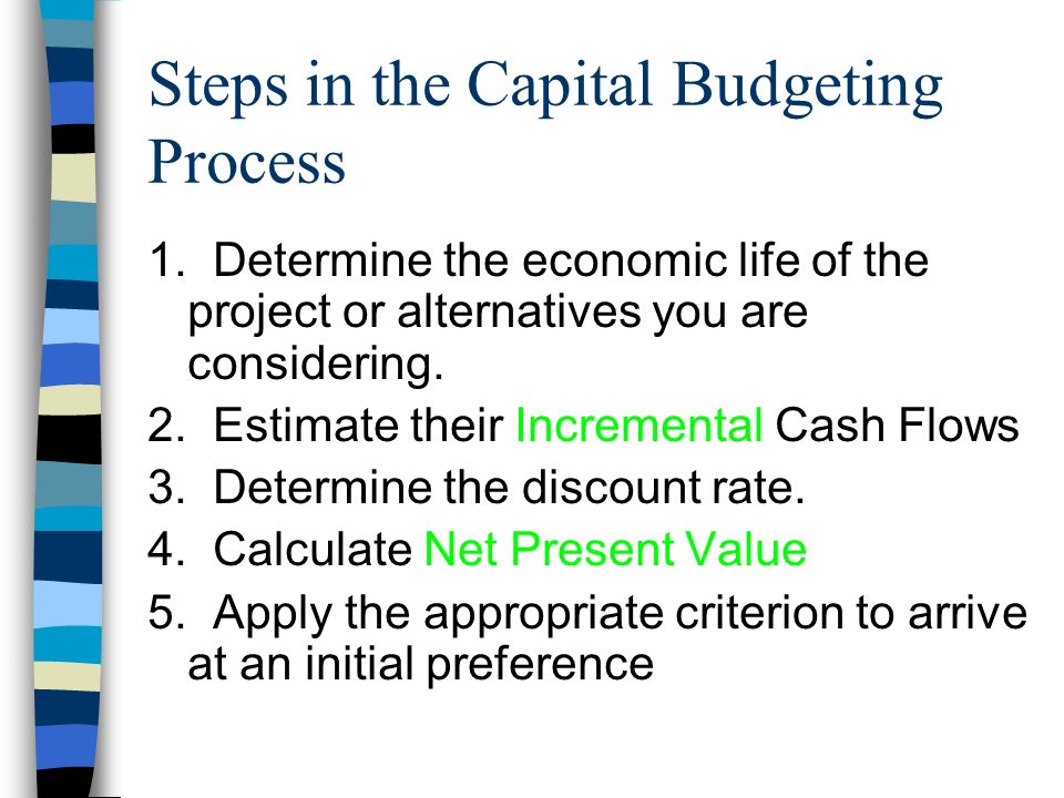capital budgeting process 5 steps