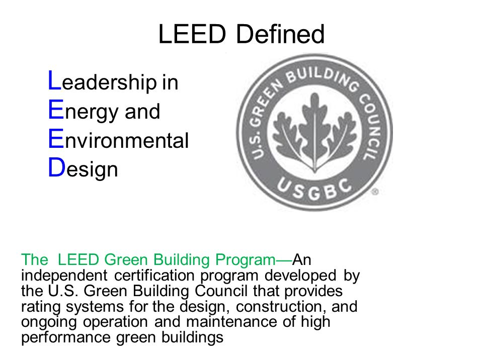 Planning For Leed 2010 Project Lead The Way Incvil