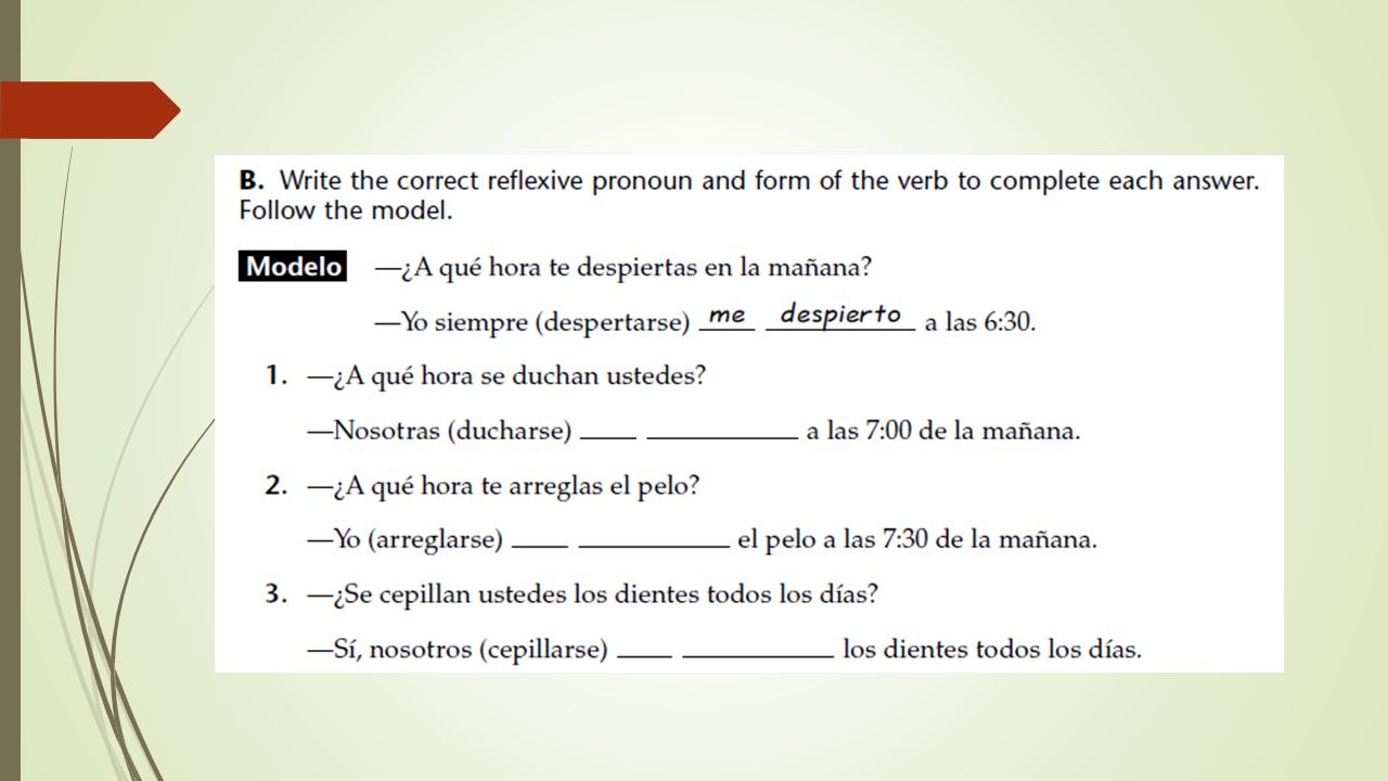 100 Realidades 2 Capitulo 4b 1 Practice Workbook Answers Es ...