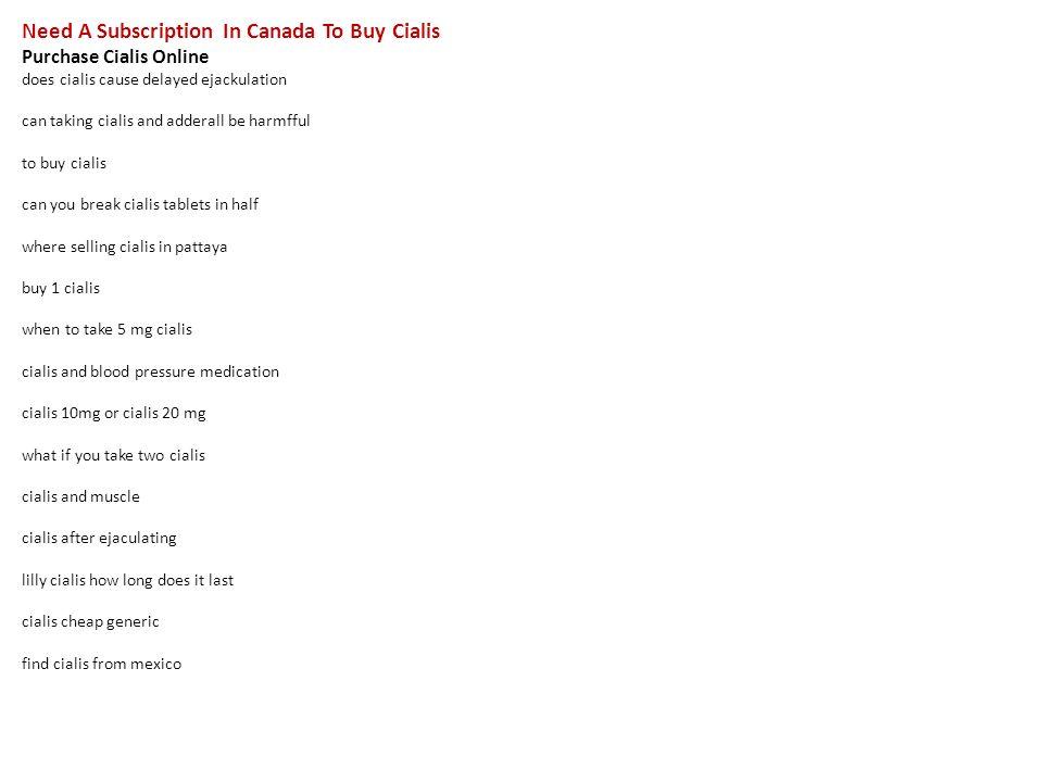 Canada cialis pharmacies scam