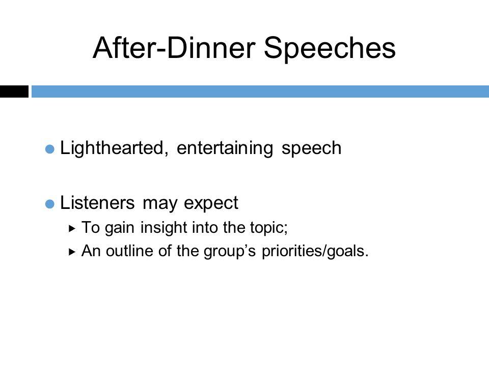 after dinner speech outline