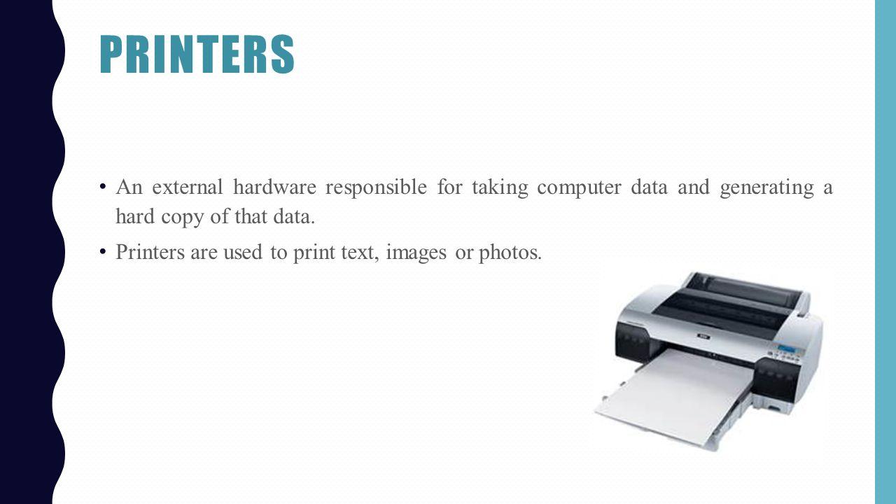 Classifications of printers cse 101 final presentation. Ppt download.