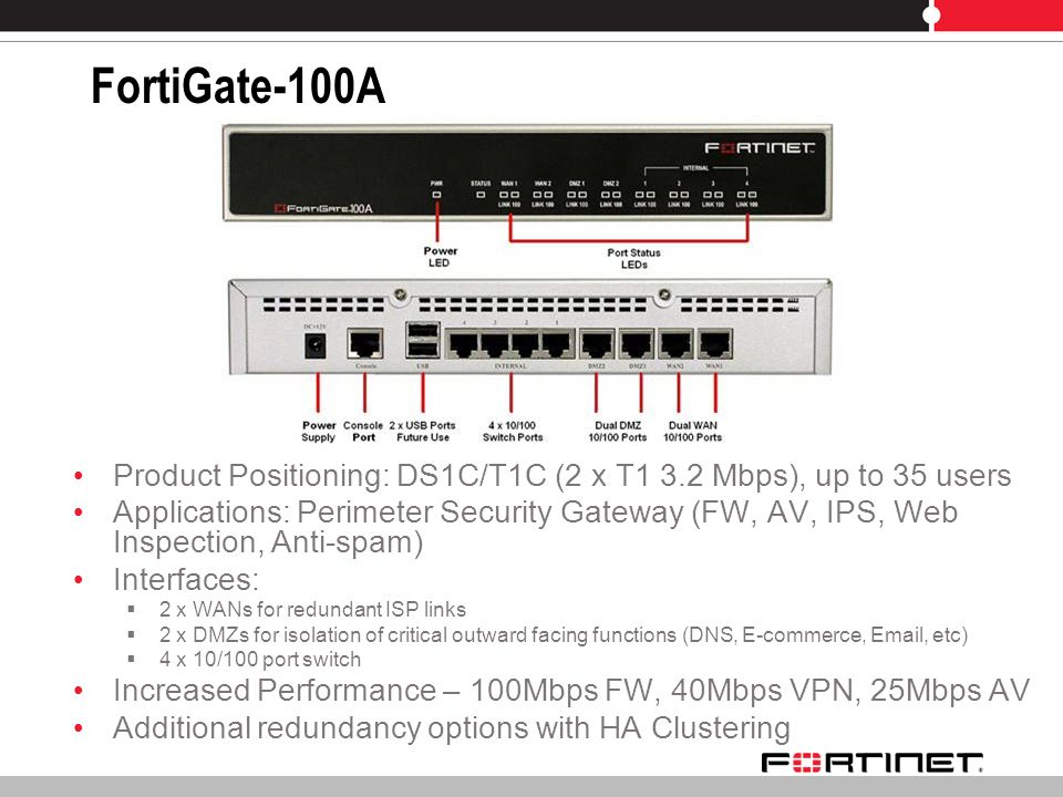 FortiGate-50 to -100 Series Solutions for SMB, SOHO, and Enterprise