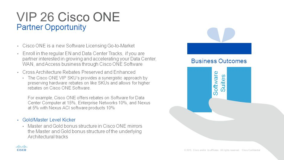 Ordering - BoM Cisco ONE VIP 26 Overview Duration: 1 5 hrs Notes
