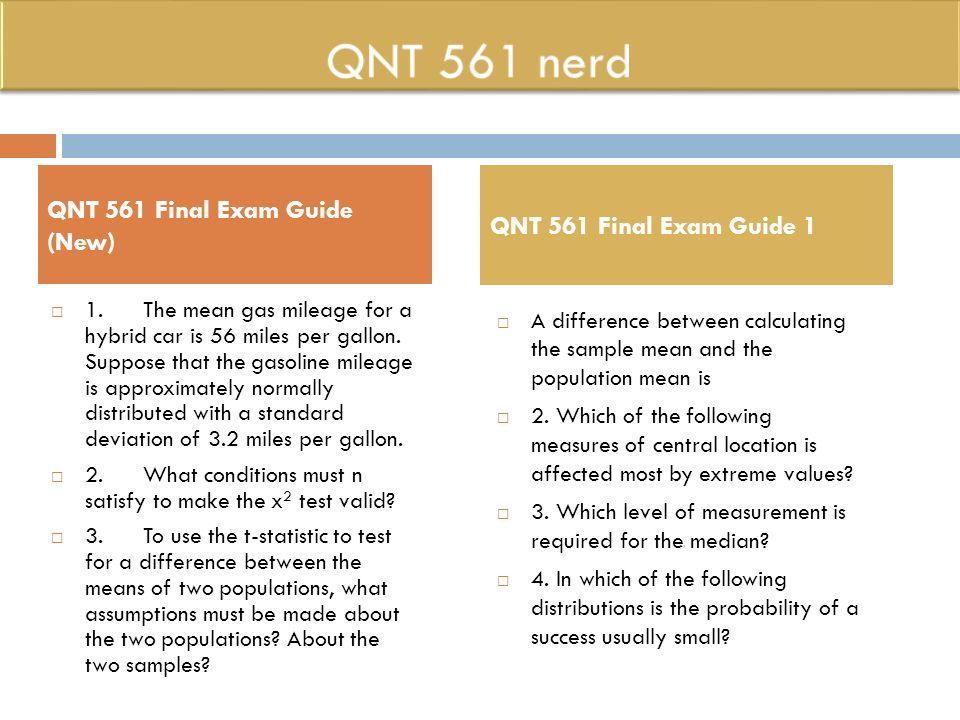 QNT 561 Nerd Qnt561nerddotcom QNT 561 Week 1