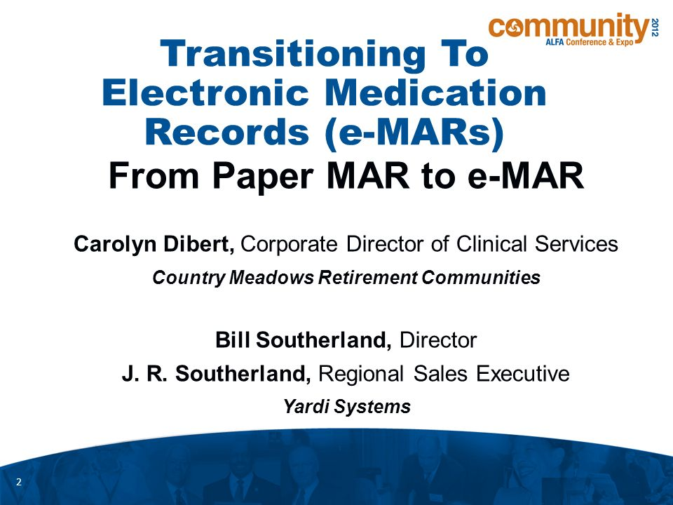 1  Transitioning To Electronic Medication Records (e-MARs