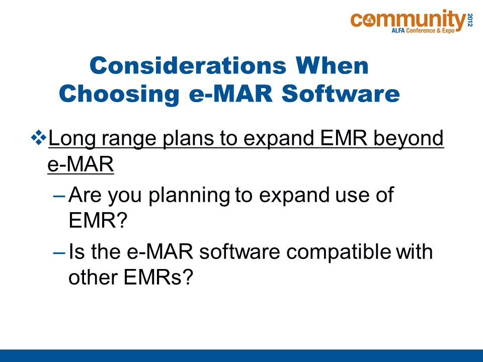 1  Transitioning To Electronic Medication Records (e-MARs) From