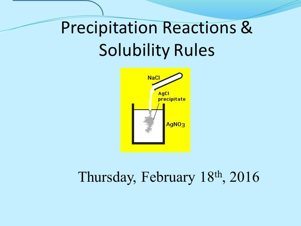 precipitate rule sheet