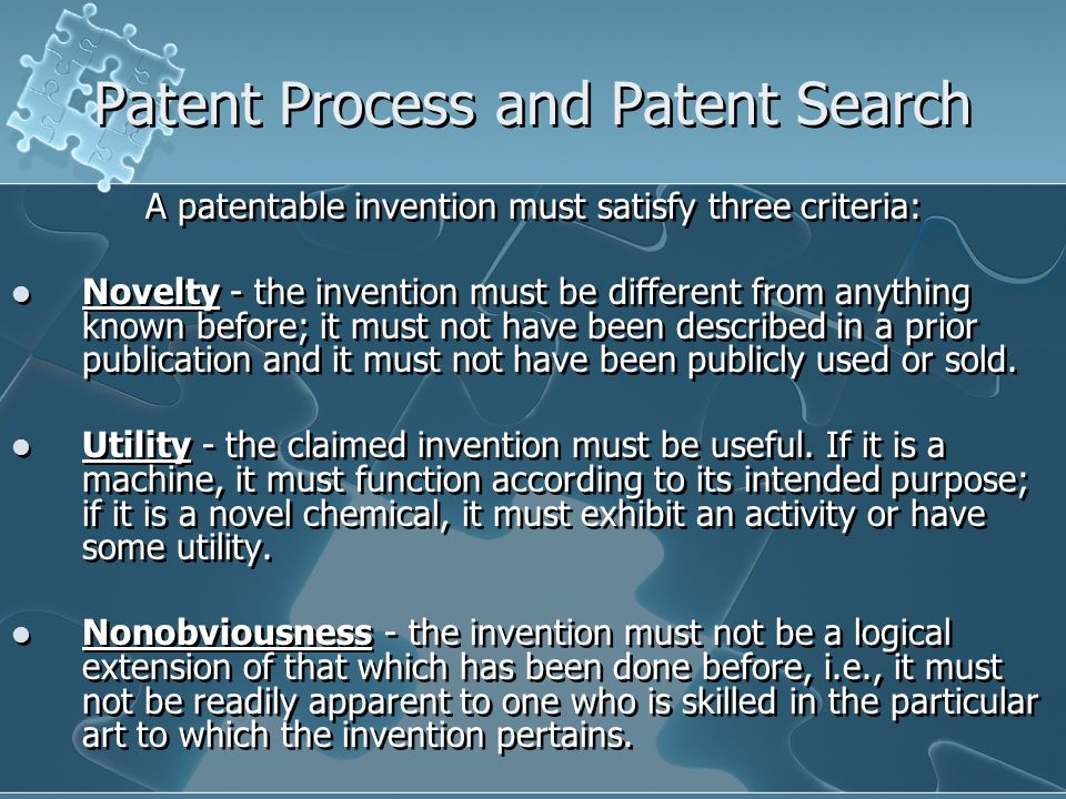 Patent Process And Search 6a Foundations Of Technology