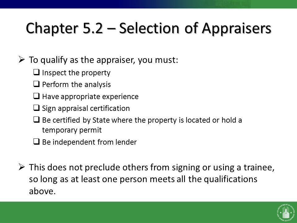 Orcf Appraisals Handbook Chapter 5 Wayne Harris Chief Appraiser